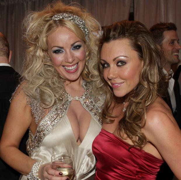 Gemma Garrett and Michelle Heaton their way along the red carpet to the Fate Awards in association with Diet Coke at the Europa Hotel in Belfast on Friday night.