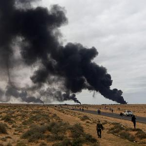 Nato has started round-the-clock surveillance of the air space over Libya amid attacks by government jets on rebels
