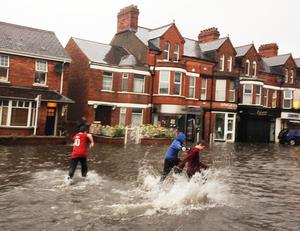 Lisburn Road flooding tonight...