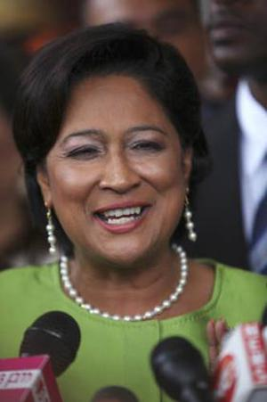 <b>Kamla Persad-Bissessar - Prime Minister of the Republic of Trinidad and Tobago</b><br/>  Trinidad and Tobago's first female prime minister was sworn in in May 2010. As leader of the United National Congress she runs a coalition of five parties. She began her political career in 1995 serving as an MP and Attorney General and later, when the UNC formed a government, as the minister for education. She became leader of the United National Congress Opposition 2006 emerged victorious over the party's founder Basedo Panday in the electoral race four years later.