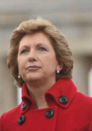 <b>Mary McAleese - President of the Republic of Ireland </b><br/> Mary McAleese is Ireland's second female president and the world's first woman to be elected to succeed another woman as head of state. She became president in 1997 and easily won a second term in 2004 having been the only validly-nominated candidate. The former barrister is also the first Irish president to have been born in Northern Ireland.