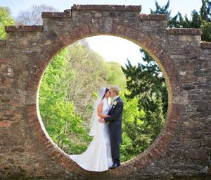 Orla McGrotty and Damien Mc Stocker married in St Mary's Church, Limavady on 25 April and traveled to Drenagh Country House Estate for photos before going to The Waterfoot for their reception.