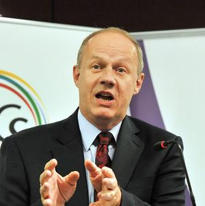 Immigration Minister Damian Green said the UKBA has collected 10.7 million pounds of the 53.1 million pounds of fines issued since May 2008