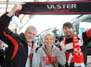 John, Holly and Neill Carson from Belfast