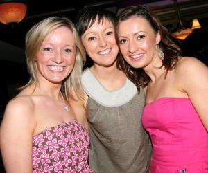 Aisling Johnston, Noleen Colton and Alison Kelly having a ball in Mint in Cookstown.