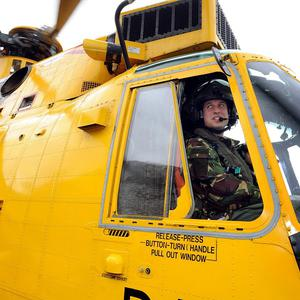 Prince William helped rescue people from the Irish Sea