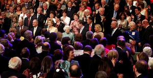 The  Queen  attends the National Convention Centre Dublin on May 19, 2011 in Dublin, Ireland.