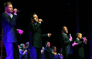 Westlife perform in the Convention Centre Dublin on May 19, 2011 in Dublin, Ireland.