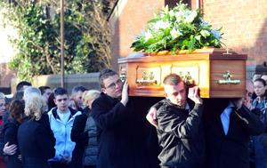 The funeral of Terri-Anne Mackin  at Sacred Heart Church, Belfast