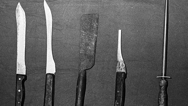 Some of the knives used by the Shankill Butchers in their attacks. Pacemaker Press