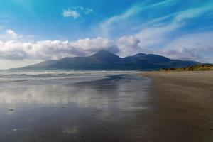 Autumn Saturday, The Mournes from Murlough Bay