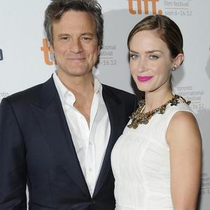 Colin Firth was celebrating his brithday in Toronto with co-star Emily Blunt