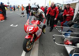 Michael Dunlop pictured at the second practice on the North coast circuit at the Relentless International North West 200