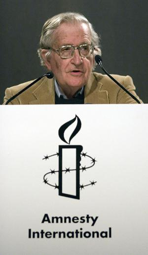 Professor Noam Chomsky who will deliver the annual Amnesty International lecture during the Belfast Festival at Queen's University
