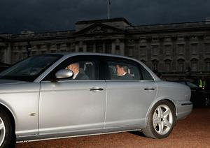 The new Prime Minister David Cameron leaves Buckingham Palace on May 11, 2010 in London, England