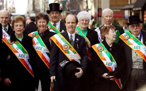 Revelers prepare to march in the 249th annual St. Patrick's Day parade March 17, 2010 in New York City