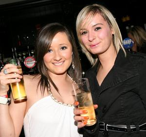 Lathryn Barrett and Caoimhe Jordan getting into the party atmosphere in Mint, Cookstown.