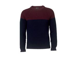 <b>4. Autograph, £35, marksandspencer.co.uk</b>  Colour blocking on a sweater is an easy way to add some pizazz to your wardrobe. This burgundy and navy combo – both very wearable colours – from the Autograph range at Marks & Spencer comes in a cable knit for added texture.