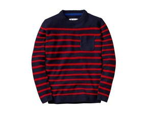 <b>6. Boden, £44, boden.co.uk</b>  This navy fishermen's style knit makes a strong graphic statement without being over the top. Wear it with indigo denim jeans and desert boots for a paired down off-duty look.