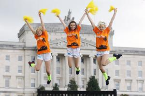 The Ulster Rockettes at Stormont to support Marie Curie Cancer Care's Walk Ten