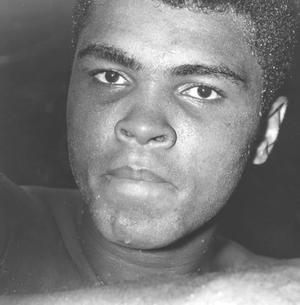 1966: US boxer Muhammad Ali, born Cassius Marcellus Clay, during a training session for his fight against Brian London August 5, 1966.