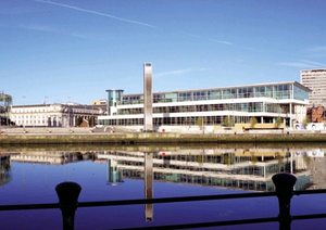 Office space in the waterfront area, such as Lanyon Plaza, is attracting strong interest