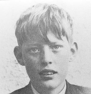 Ian Paisley, as a 12-year-old schoolboy