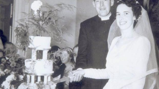 Ian Paisley and his wife Eileen on wedding their day.