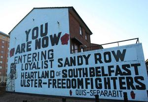 Off the wall: The UFF mural is painted over on Sandy Row in south Belfast. It will be replaced by a new mural of King William of Orange Coln Lenaghan/Pacemaker