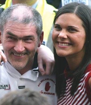 Tyrone manager Mickey Harte and his daughter Michaella