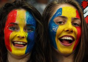DUNEDIN, NEW ZEALAND - SEPTEMBER 24:  Romania fans enjoy the atmosphere ahead of the IRB 2011 Rugby World Cup Pool B match between England and Romania at Otago Stadium on September 24, 2011 in Dunedin, New Zealand.  (Photo by Warren Little/Getty Images)