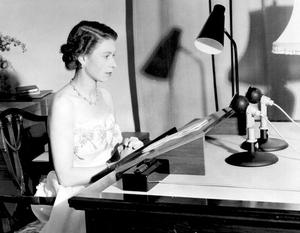 ROYAL Queen/Speech...PA file photo dated  31/12/53 of Britain's Queen Elizabeth II making her Christmas broadcast to the peoples of the British Commonwealth from Government House, Auckland, New Zealand....A