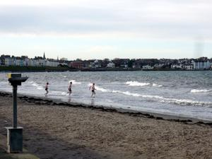 New Year's Day dip at Ballyholme. By Mike Pringle, Groomsport