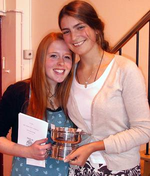 Fiona McCormack, who obtained 3 A's in her A levels and won joint prize of The Catherine McCormick Memorial Trophy for Commitment to Music at the Bloomfield Collegiate Prize Day with her good friend Kirsty Jones. Fiona has been accepted at Queens and her ambition is to become a Music Therapist.