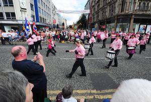 Belfast Orange parade. July 2012. Pacemaker Press