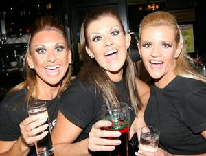 Donna Carr, Tracey Ford and Laura Ford enjoying the entertainment in Mint, Cookstown