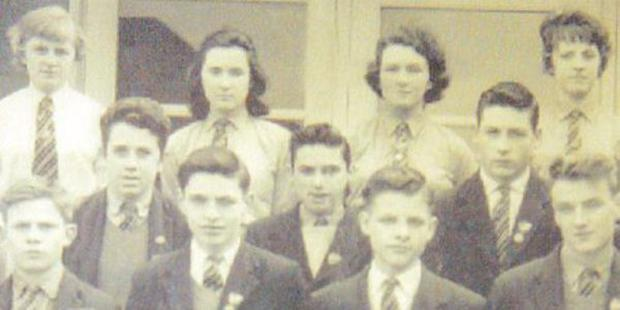 George Best  pictured with other prefects at Lisnasharragh High School, Belfast, 1961. George is pictured second left, centre row.