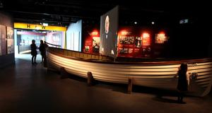 One of the real lifeboats from the Titanic.