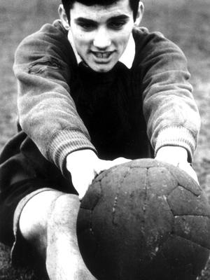 Football legend George Best pictured in January 1964