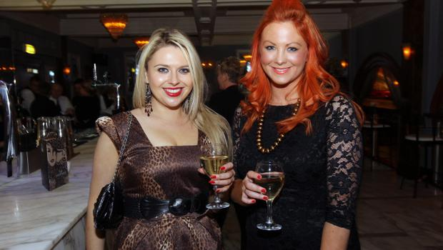 Jenny Monroe and Sarah Toland at the Alison Campbell Modelling Agency Christmas Party at Cafe Vaudeville. Picture by Kelvin Boyes / PressEye.com
