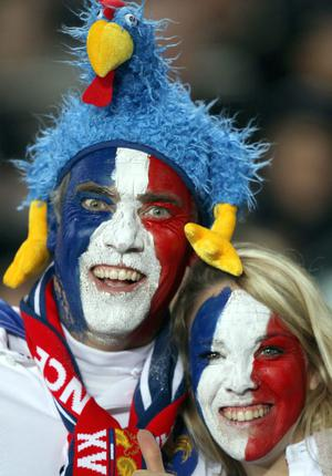 French fans before the IRB Rugby World Cup match at Eden Park, Auckland, New Zealand.