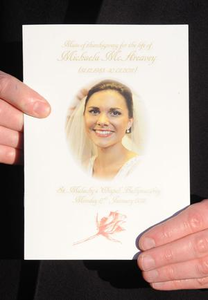 Order of Service at funeral of Michaela McAreavey at St Malachy's Church
