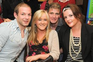 Mikey Smith, Kate O'Neill, Sammy Workman and Stephanie Storey at the Men's Style Night at the Apartment, Belfast