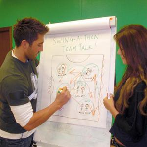 Gavin Henson talks team tactics before the Strictly semi-final