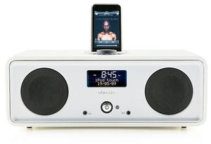 <b>2. Best for chic sounds </b><br/> Vita Audio R2i <br/> This latest and most accomplished version of Vita Audio's excellent DAB/FM table top radio has an integrated iPod dock on top (though iPod shuffles and other MP3 players are welcome to connect round the back). There's a choice of veneer and lacquer finishes. Sounds great, looks even better. <br/> £299.95  <br/> johnlewis.com