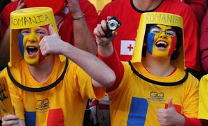 PALMERSTON NORTH, NEW ZEALAND - SEPTEMBER 28:  Romania fans enjoy the atmosphere during the IRB 2011 Rugby World Cup Pool B match between Georgia and Romania at Arena Manawatu on September 28, 2011 in Palmerston North, New Zealand.  (Photo by Mike Hewitt/Getty Images)
