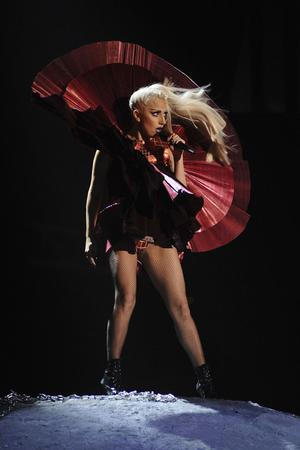 BELFAST, NORTHERN IRELAND - NOVEMBER 06:  Lady Gaga performs onstage during the MTV Europe Music Awards 2011 live show at at the Odyssey Arena on November 6, 2011 in Belfast, Northern Ireland.  (Photo by Ian Gavan/Getty Images)