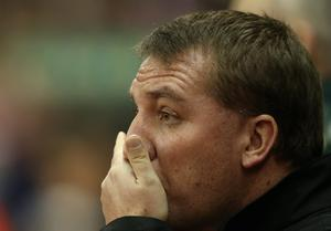 STOKE ON TRENT, ENGLAND - DECEMBER 26:  Liverpool Mamager Brendan Rodgers looks on prior to the Barclays Premier League match between Stoke City and Liverpool at the Britannia Stadium on December 26, 2012, in Stoke-on-Trent, England.  (Photo by Bryn Lennon/Getty Images)