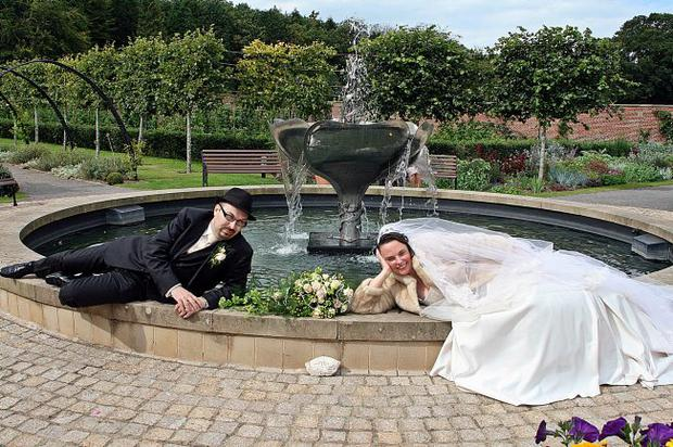 """Wedding at Bangor Castle 1st September 2011. Mr John Damian McClory and Miss Carla Rosemary McAleer. <p><b>To send us your Wedding Pics <a  href=""""http://www.belfasttelegraph.co.uk/usersubmission/the-belfast-telegraph-wants-to-hear-from-you-13927437.html"""" title=""""Click here to send your pics to Belfast Telegraph"""">Click here</a> </a></p></b>"""