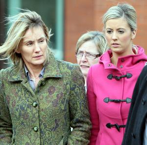 Hazel Stewart's daughter Lisa, right, attended the hearing